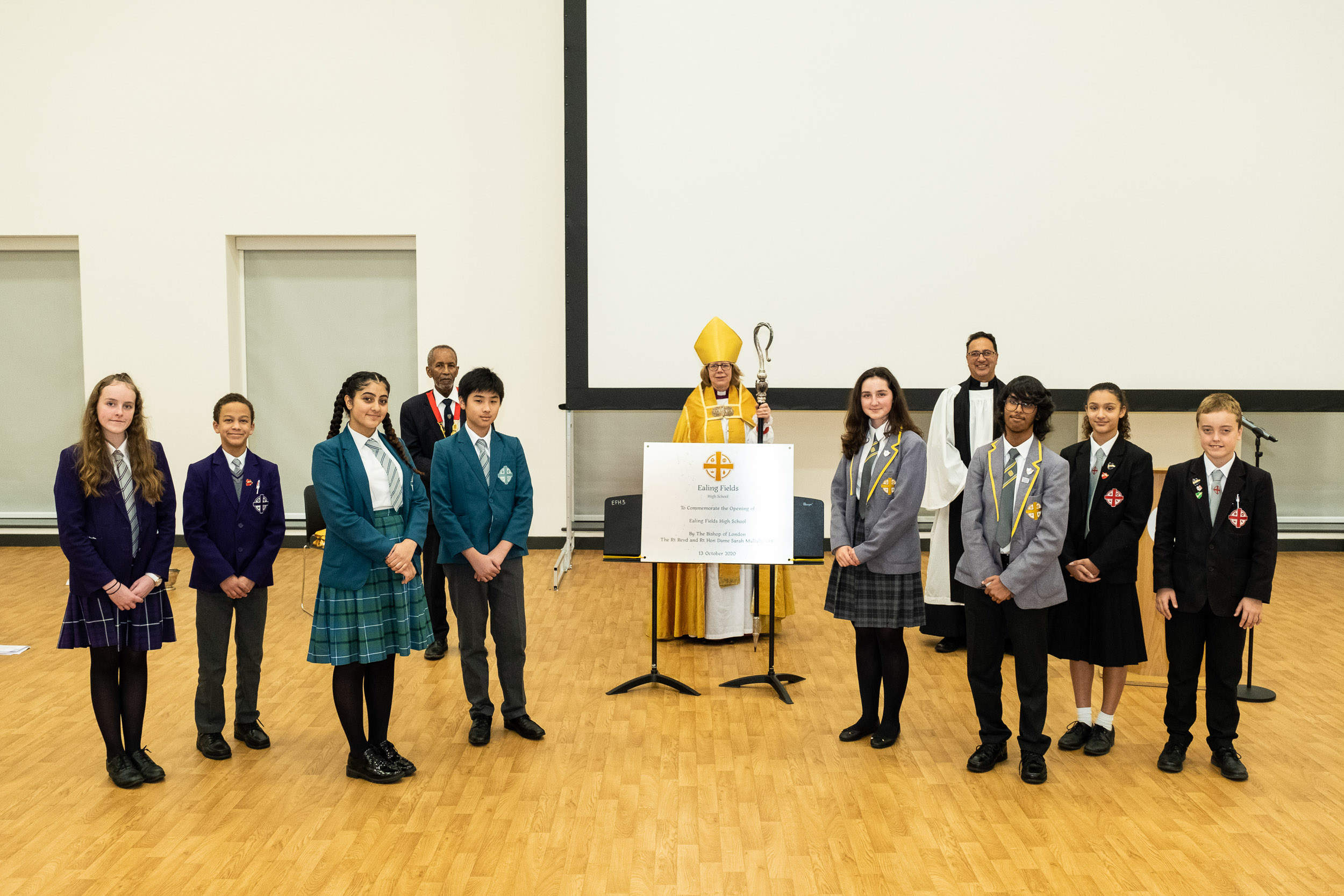 EF Students, Mayor, Bishop and Chaplain